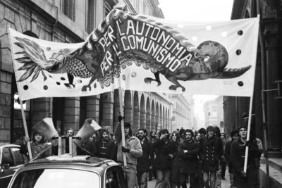 Bologna 1977. Manifestazione contro la criminalizzazione delle lotte degli studenti