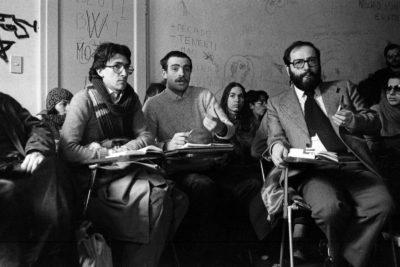 Bologna, 1977. Umberto Eco. Assemblea al Dams