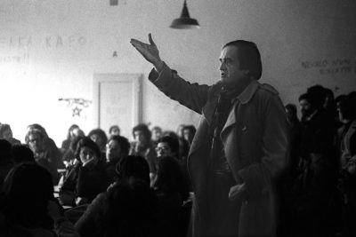 Bologna, 1977. Thomas Maldonado. Assemblea al Dams