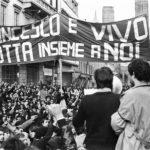 Sit-In in via Rizzoli