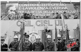 Hanno ucciso Aldo Moro. Luciano Lama parla a Piazza San Giovanni.