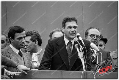 Hanno ucciso Aldo Moro. Luciano Lama parla a Piazza San Giovanni