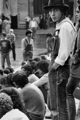 Patty Smith in concerto, Bologna, 1979