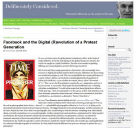 Facebook and the Digital (R)evolution of a Protest Generation