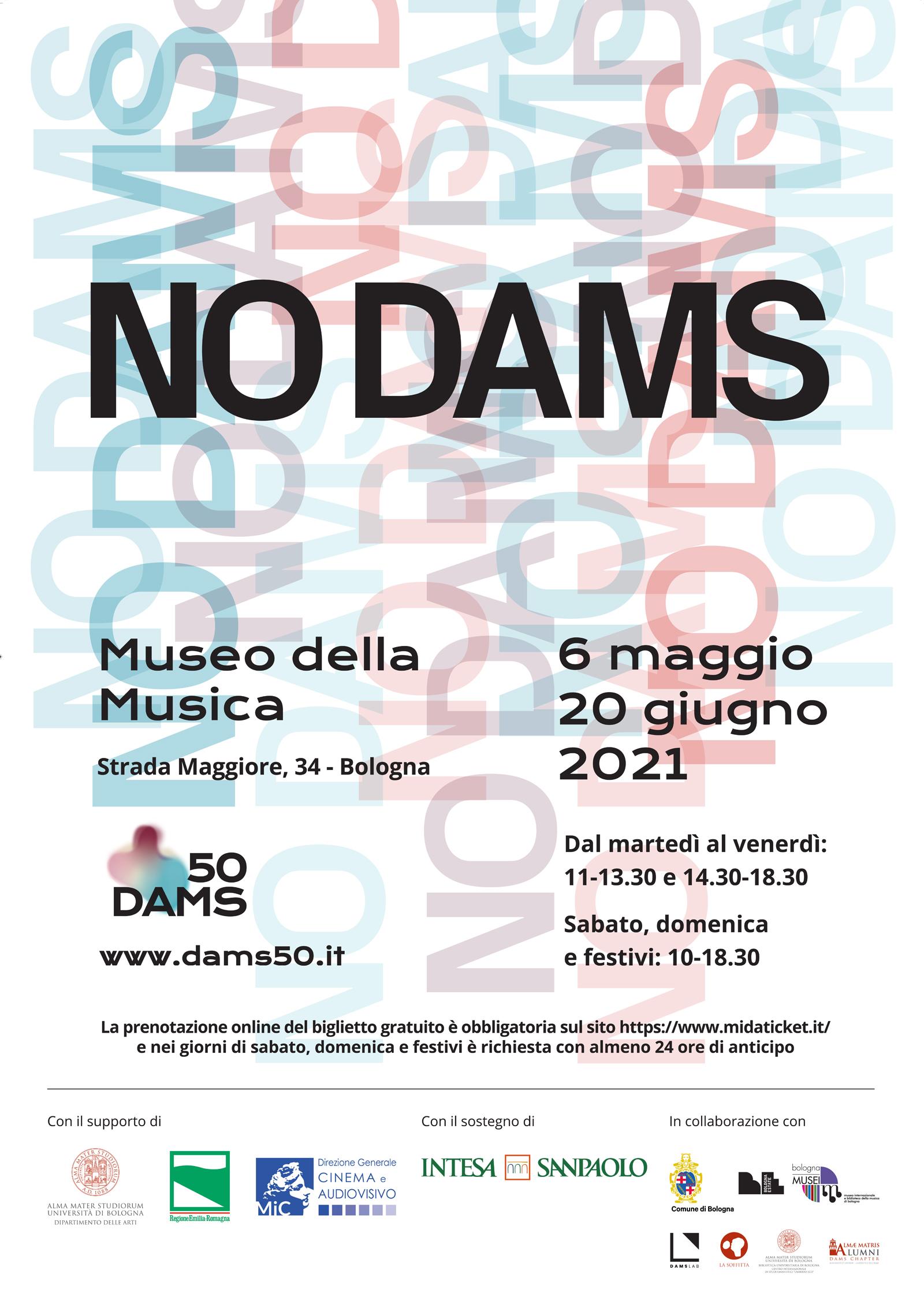 Manifesto Mostra NO DAMS